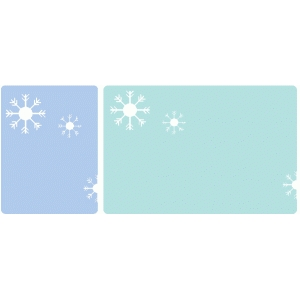set of 2 snowflake journaling cards