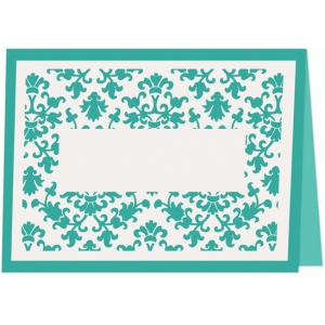 damask place card