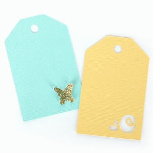 butterfly and rose tags