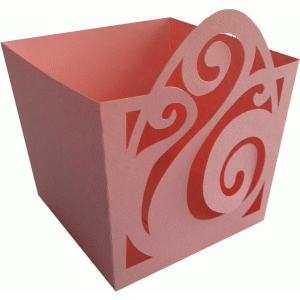 easter egg big swirls candy box