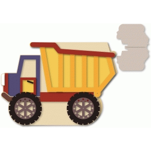dump truck shaped action a7 card