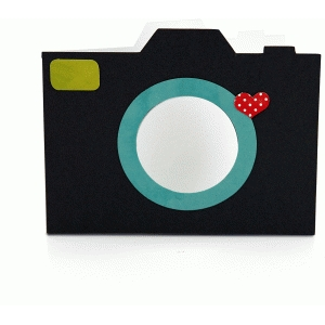 a2 camera shaped card