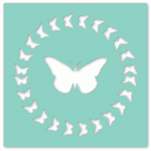 circle butterfly overlay