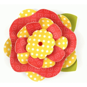 3d layered flower