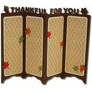 thankful accordion stand card