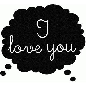 i love you thought bubble