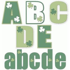 nested st. patrick's day alphabet