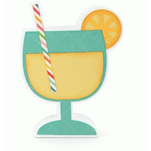 lemonade glass shaped card