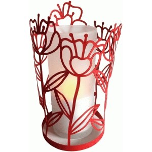 flower stems lantern