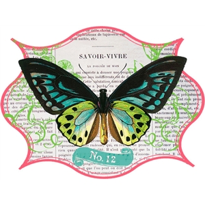 house of 3 butterfly sticker