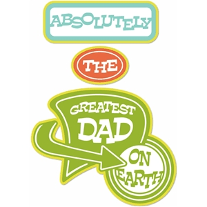 'absolutely the greatest dad' retro word set