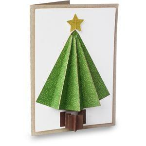 accordion christmas tree folded card