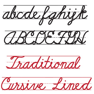 ld traditional cursive lined