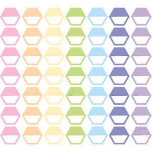 pastel hexagon tabs