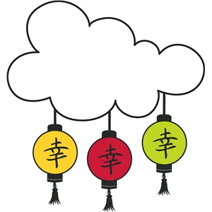 cloud and lanterns