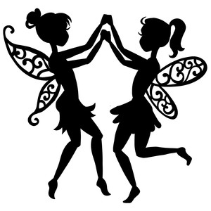two dancing fairies