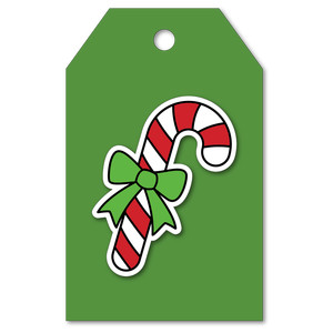 easy print + cut tag candy cane