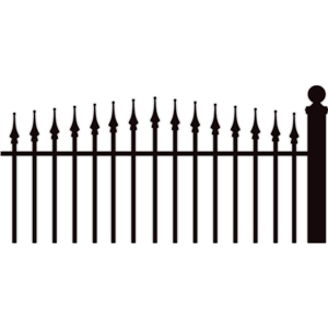 iron finial fence