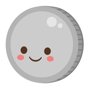 kawaii gumball coin