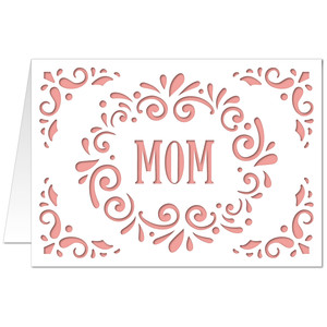 5x7 flourish card mom