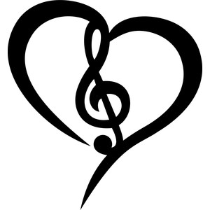 musical note heart