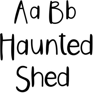 haunted shed font