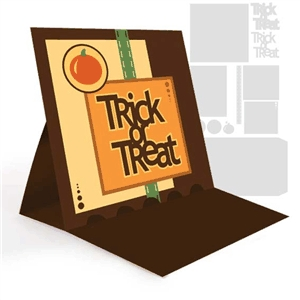 easel card- trick-or-treat