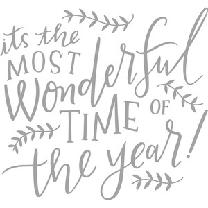 most wonderful time of the year handlettering