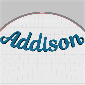 addison name pendant
