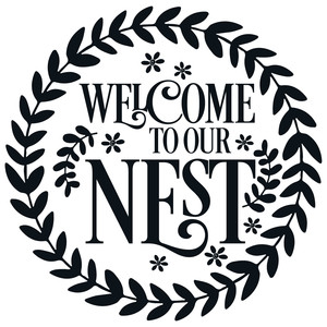 welcome to our nest leafy wreath