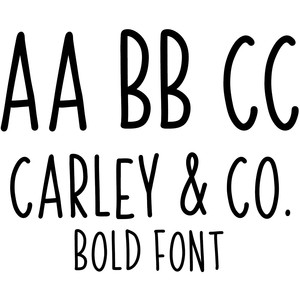 carley & co bold font