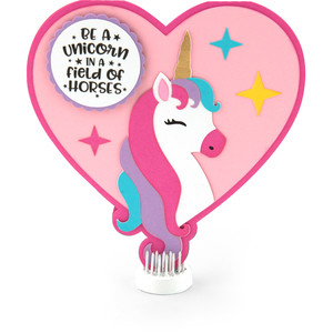 unicorn heart card