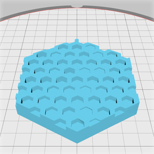 hexagonal box lid with honeycomb pattern