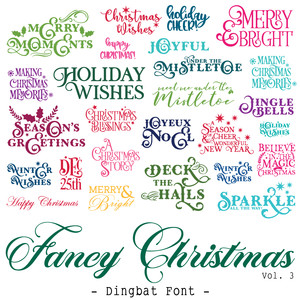 fancy christmas quote font