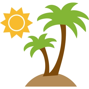 beach palm tree & sun