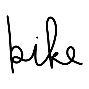 bike word art