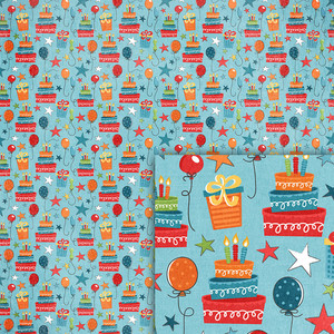 blue birthday background paper