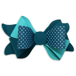 double split bow two toned