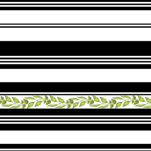 striped greenery pattern