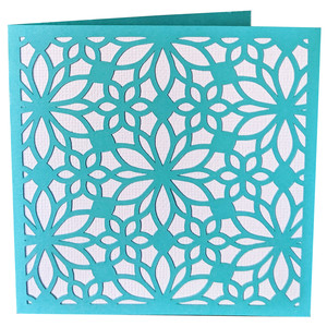 floral lace card