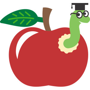 worm apple school