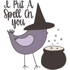 i put a spell on you halloween bird