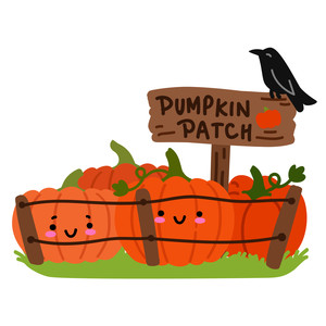 kawaii pumpkin patch