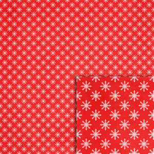 red snowflakes background paper