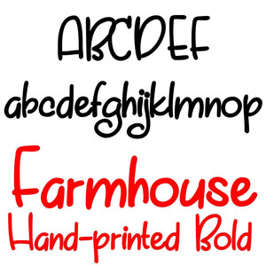 pn farmhouse hand-printed bold