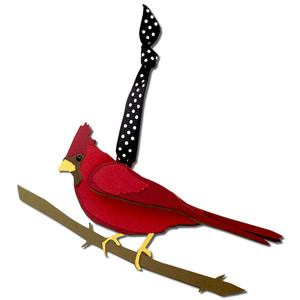 cardinal gift tag ornament