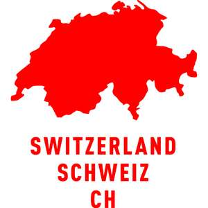 switzerland country outline