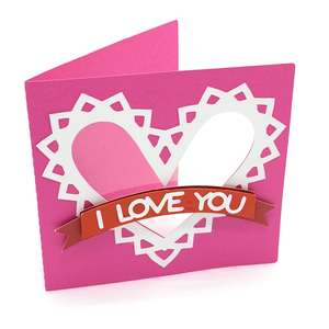 i love you and heart card