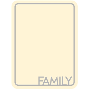 family journaling card