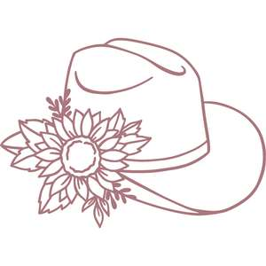 cowboy hat with sunflower